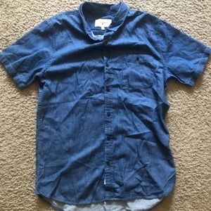 Modern Amusement Blue Denim Short Sleeve Collar L